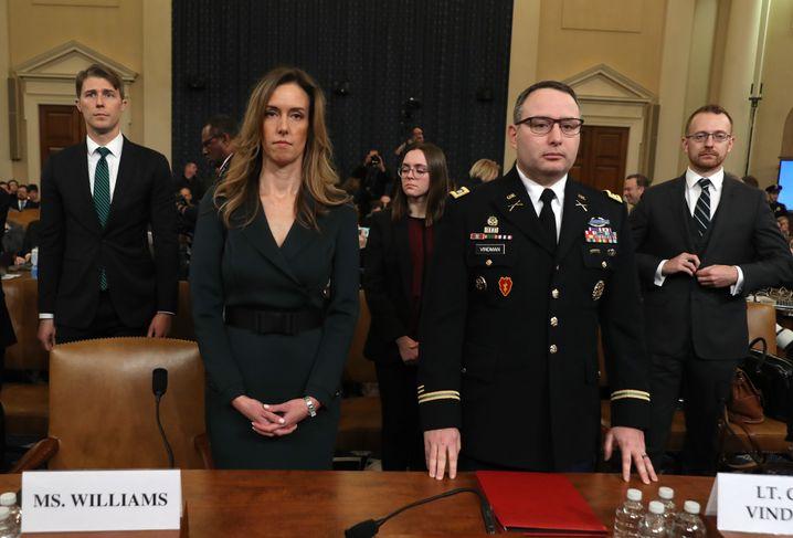 Impeachment-Kronzeugen: Jennifer Williams und Alexander Vindman