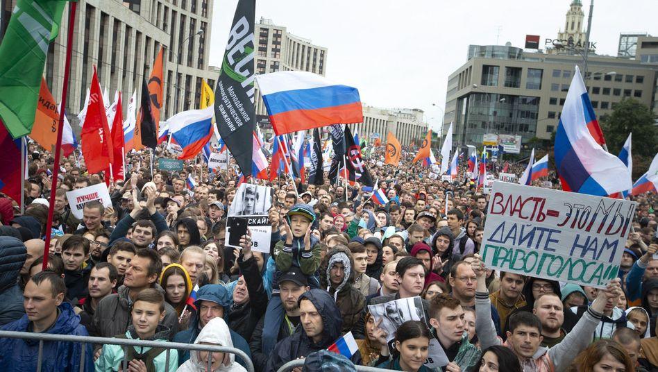 Proteste gegen Behördenwillkür: Vor allem junge Russen gingen im Sommer auf die Straße