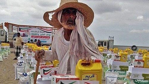 Hilfeempfänger im Jemen