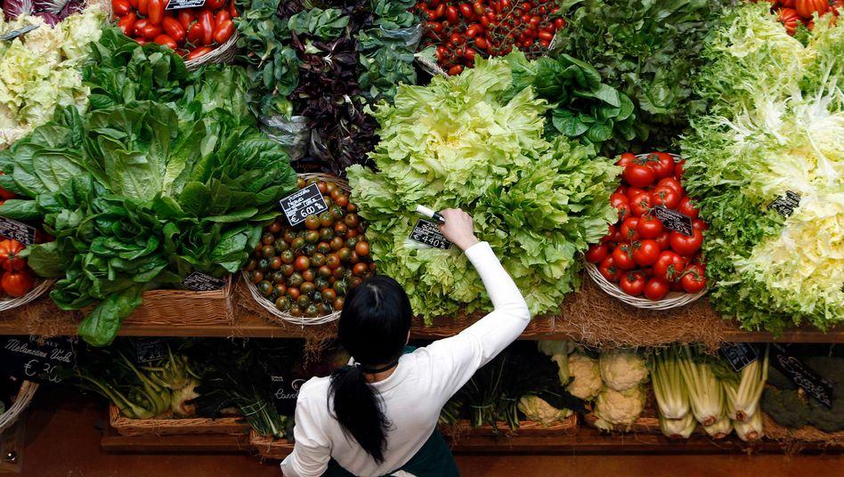 Gemüsestand in Mailand, Italien: Salat und Gemüse erschienen in der Studie besonders empfehlenswert
