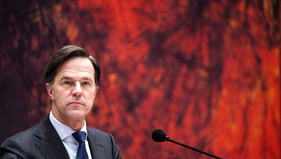 Der niederländische Ministerpräsident Mark Rutte kämpft um seine politische Zukunft