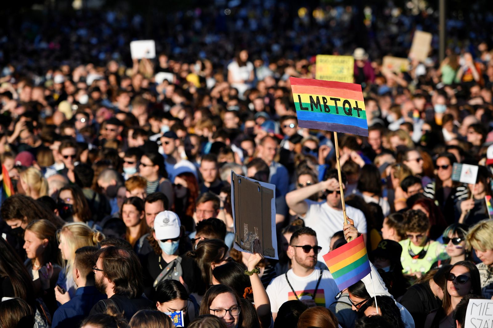 Protest against latest anti-LGBTQ law in Budapest