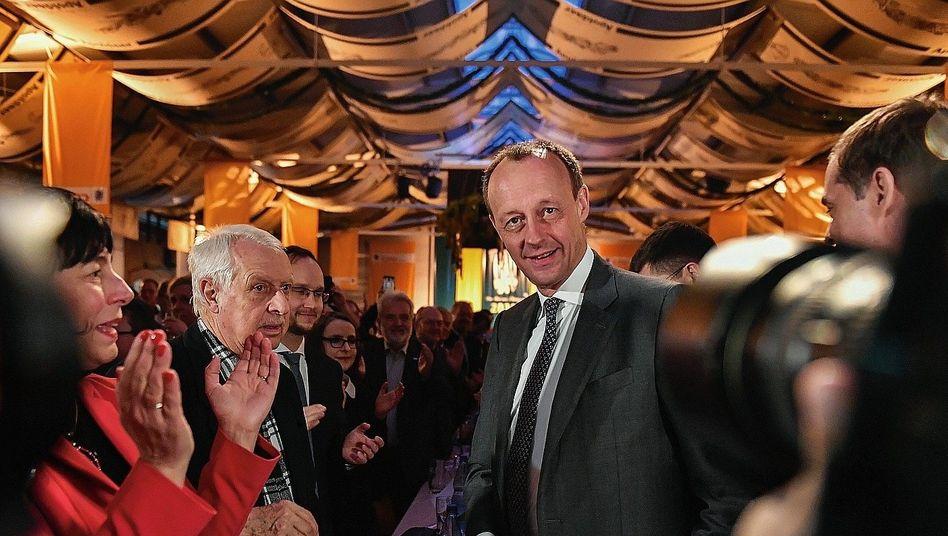 CDU-Politiker Merz in Apolda am 26. Februar:Älter, ländlicher, konservativer