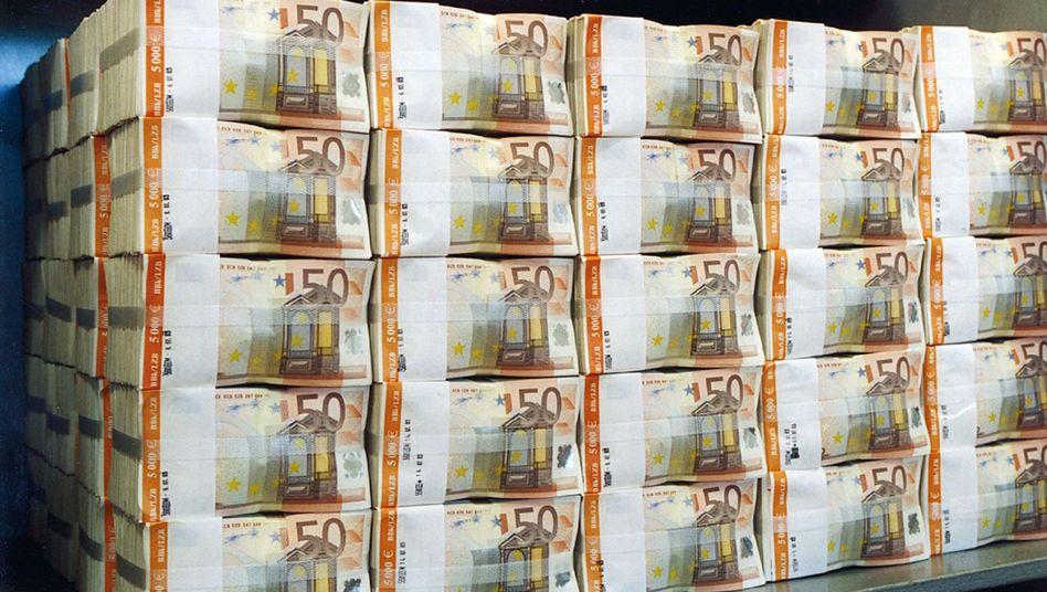 Geldpaket von 50-Euro-Scheinen