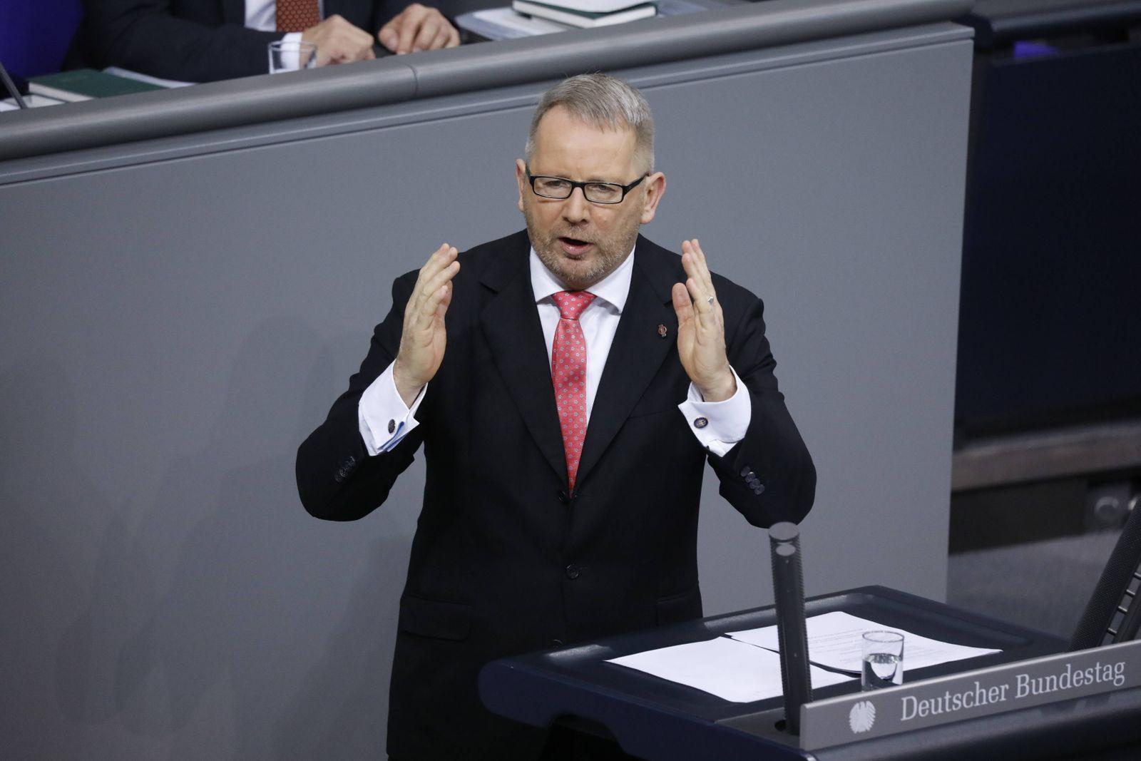 Johannes Kahrs , SPD, Deutschland, Berlin, Bundestag, Haushaltsgesetz 2020, 26.11.2019 *** Johannes Kahrs , SPD, German