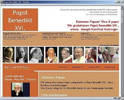 """Papst-Benedikt-Seite: """"War mir sicher, dass es ein Benedikt werden muss"""""""
