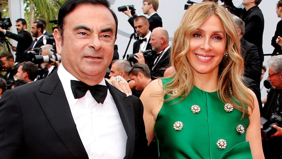 Carlos Ghosn und seine Frau Carole beim Filmfestival in Cannes 2017