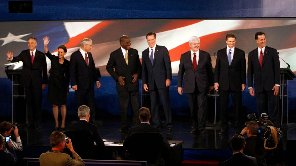 Republikanische Kandidatenriege während TV-Diskussion: Europa kommt nicht vor