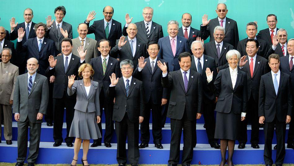 G-20-Finanzminister: Alle bitte mal winken
