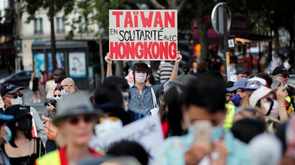 In Taiwan zeigen sich Menschen mit den Protesten in Hongkong solidarisch