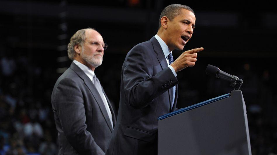 Obama bei Wahlkampf mit Gouverneur Corzine in New Jersey: Schlappe für die Demokraten
