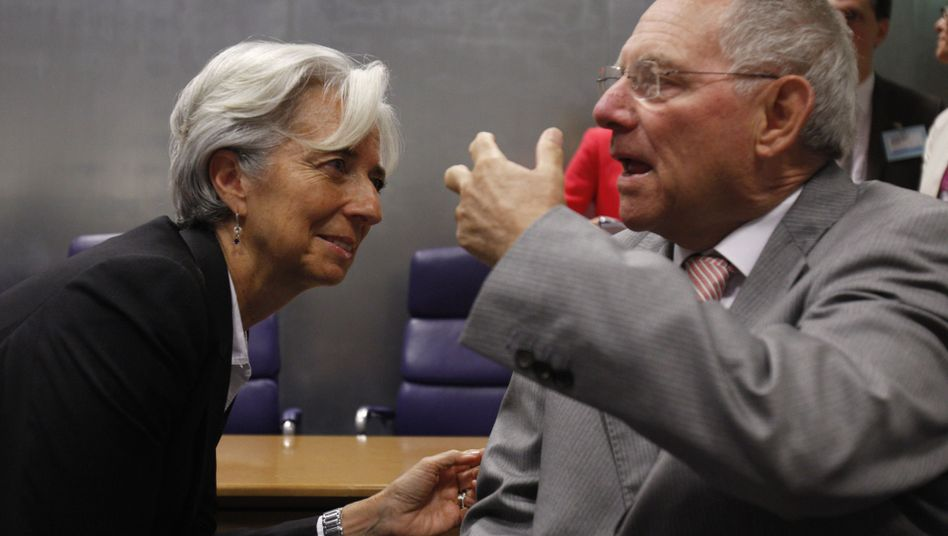 Finanzminister Lagarde und Schäuble: Entscheidung vertagt