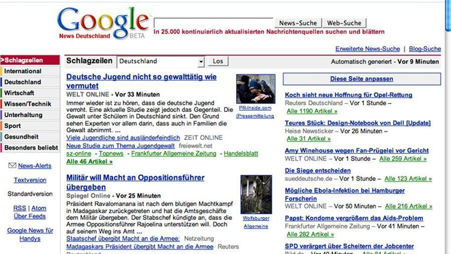 Google News: Zahlen für jeden Schnipsel?