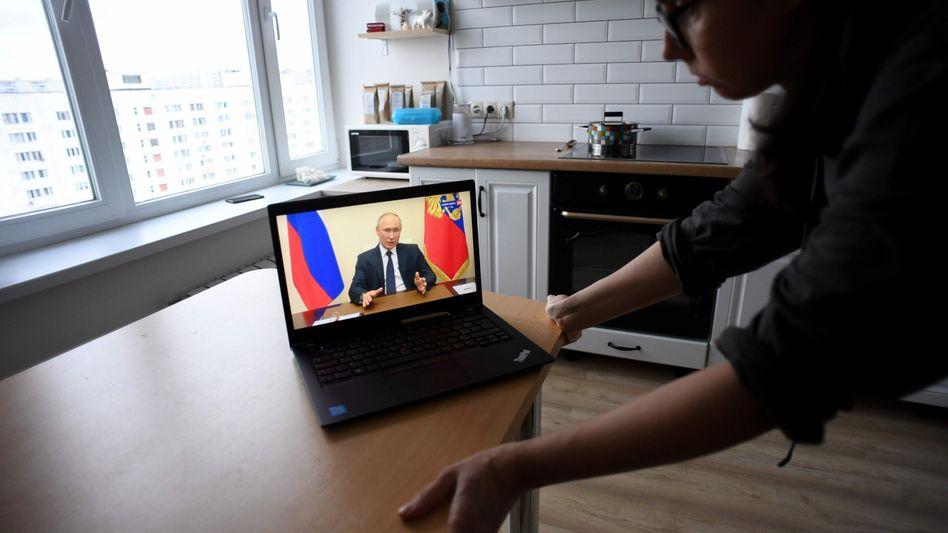 Fernsehansprache zur Coronakrise: Putin wendet sich zum zweiten Mal an die Nation