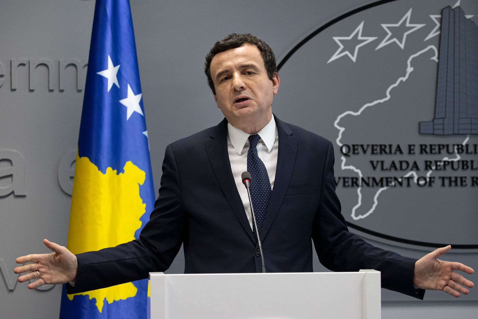 Prime minister of the Republic of Kosovo Albin Kurti ousted in no confidence vote, Pristina, Serbia - 26 Feb 2020