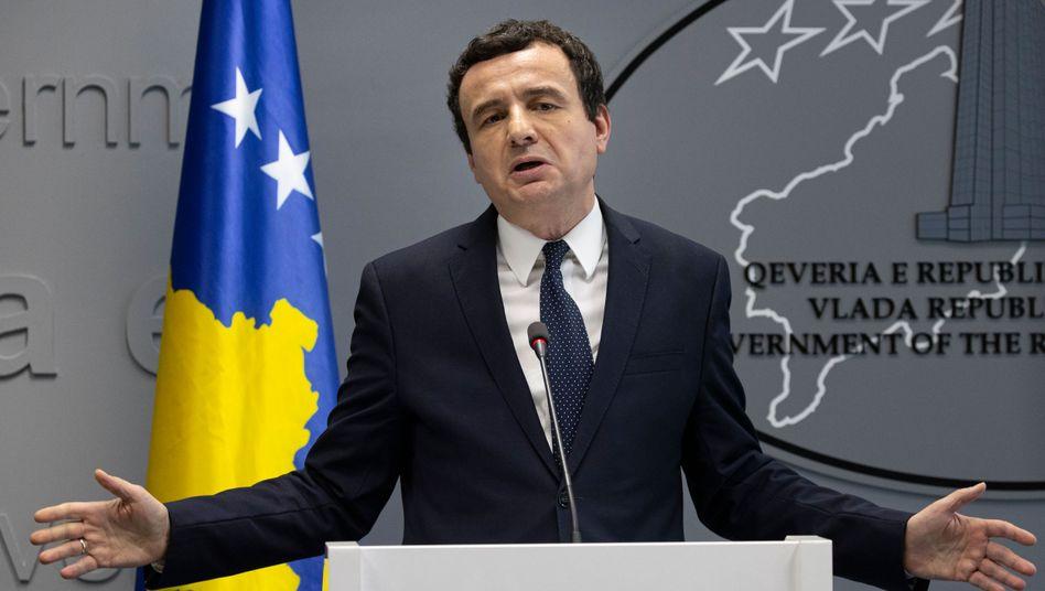 Albin Kurti nach dem Misstrauensvotum: Nach langem Streit über die Regierungsbildung hat er erst im Februar sein Amt angetreten