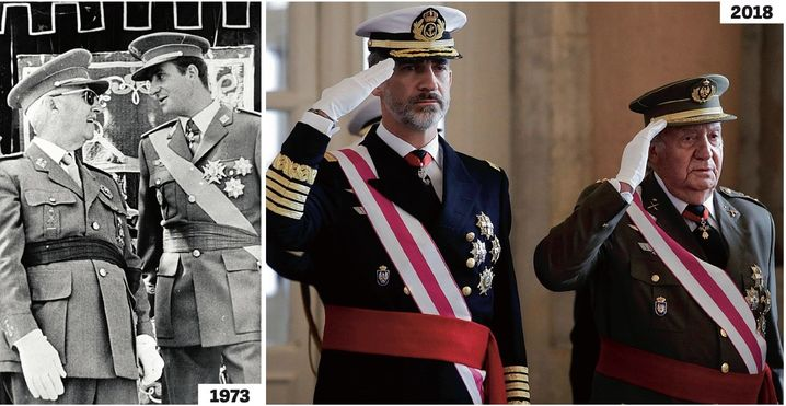 Franco kept Spain isolated under his iron-fisted rule for almost four decades. Juan Carlos led the country out of this dark era (1973), but it is now up to his son Felipe, the new king, to guide Spain through its current crisis (2018).