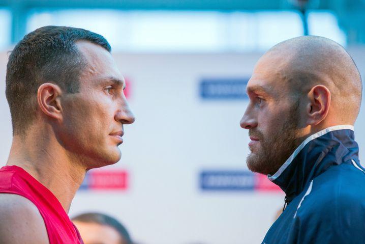 """Boxprofis Klitschko (l.), Fury: """"Es geht mir nicht nur ums Boxen"""""""