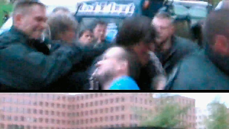 Bilder des YouTube-Videos: Faustschlag ins Gesicht