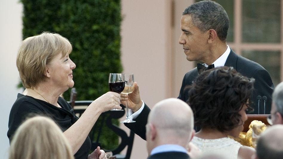 Empfang im Weißen Haus: Merkels größte Polit-Party