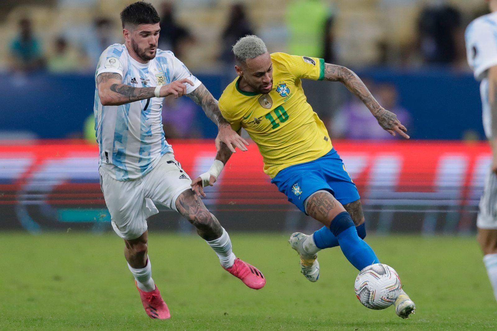 Brazil Argentina Copa America Soccer