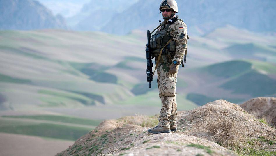 A German soldier in Afghanistan in 2013