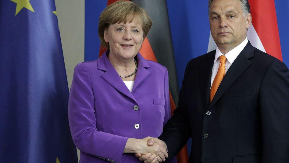 Merkel und Orbán: Gratulation zur Wiederwahl