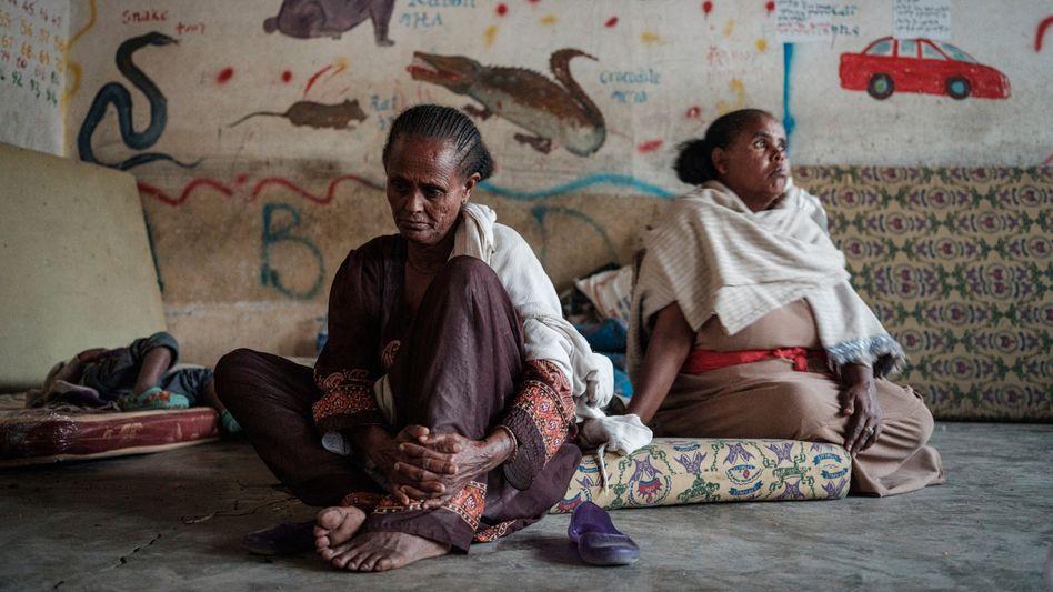 Geflüchtete Frauen aus der Region Tigray