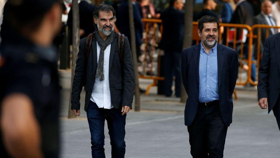 Jordi Cuixart (l.) und Jordi Sánchez (r.)