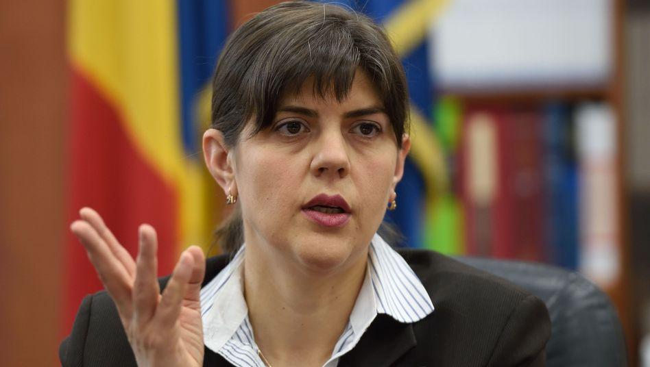 Abgesetzte Chef-Korruptionsermittlerin Laura Codruta Kovesi (Archiv)
