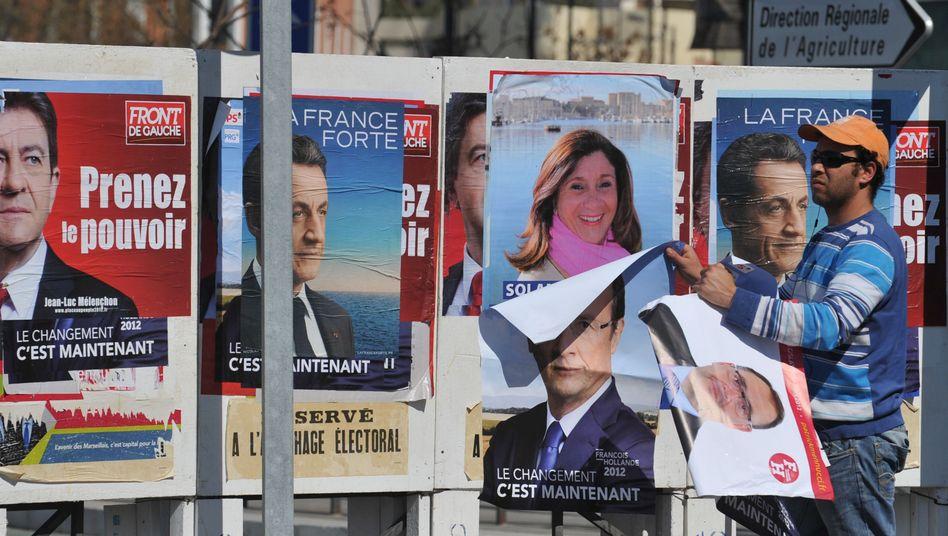 Wahlplakate in Marseille: Tweets unterlaufen das Verbot, Trends zu verbreiten