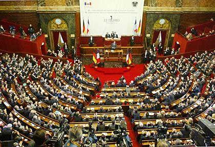 Historische Stunde: Das deutsche und das französische Parlament tagen gemeinsam im Schloss Versailles