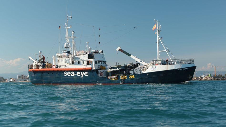 Ein Seenotrettungsboot der deutschen Hilfsorganisation Sea-Eye (Archivbild)
