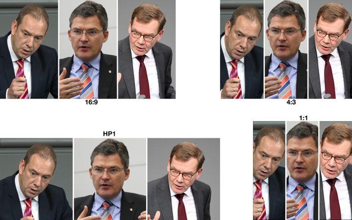 Von links: CDU-Politiker Henning Otte, Roderich Kiesewetter, Johann Wadephul