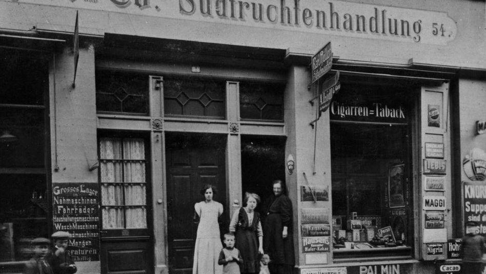 Erstes Lidl-Geschäft in Heilbronn um 1905
