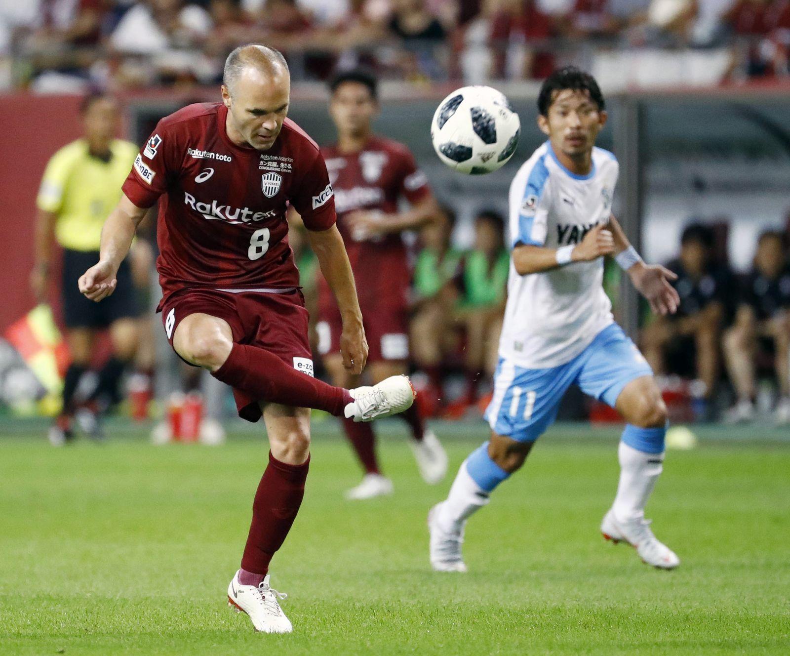 Japan Soccer Iniesta