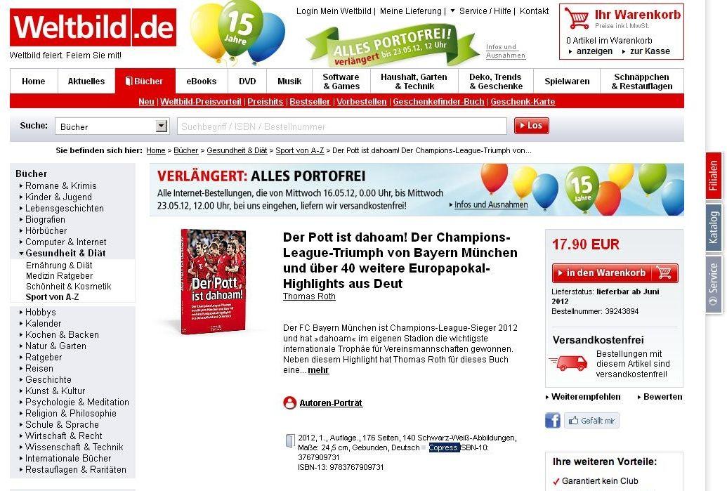 EINMALIGE VERWENDUNG Bayern Buch