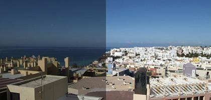 Bildbearbeitung: Urlaubsfoto vor und nach dem Gimp-Tuning