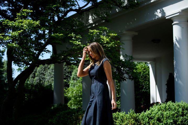 First Lady Melania Trump am 7. Mai 2019 im Rosengarten