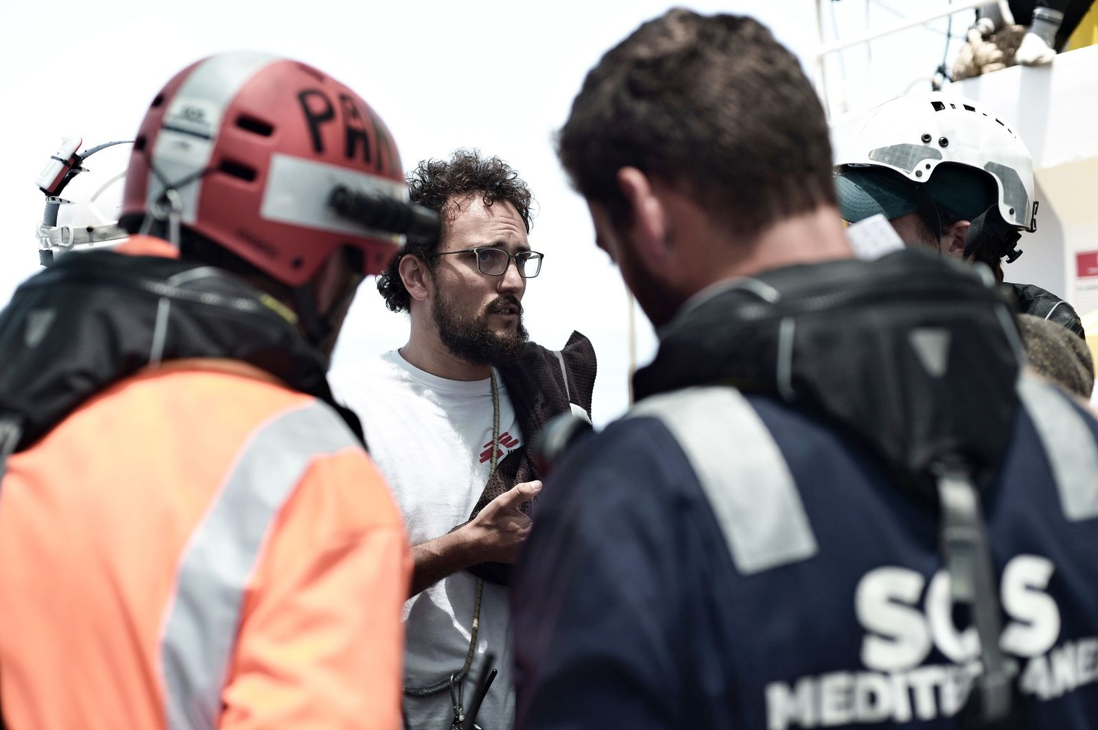 EINMALIGE VERWENDUNG Aloys Vimard/ Krankenpfleger/ Aquarius/ SOS Mediterranee