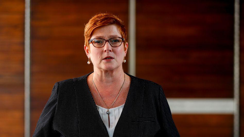 Australische Außenministerin Marise Payne: »Nicht im Einklang mit Australiens Außenpolitik«