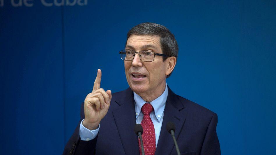 Kubas Außenminister Bruno Rodriguez Parilla (Archivbild)