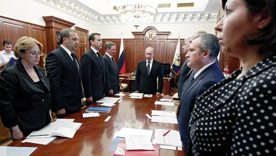 Präsident Putin im Moskauer Kreml Akt offener Rebellion