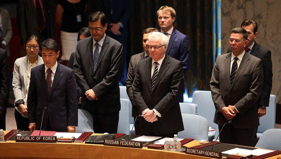 """Schweigeminute im Uno-Sicherheitsrat: """"Das Ende der Welt"""""""