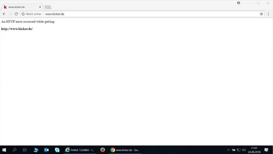 Kicker online Screenshot