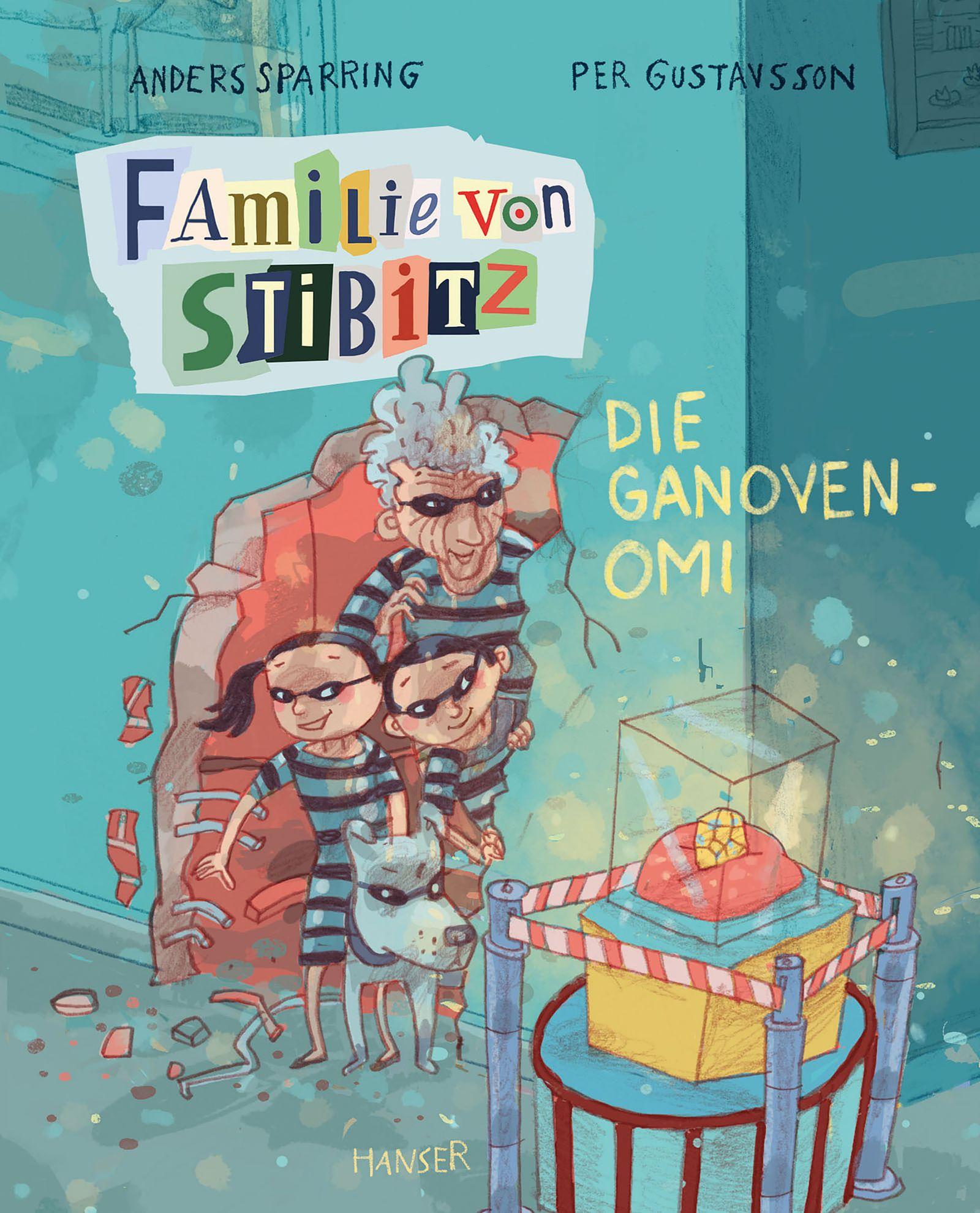 Kinderbücher/ Per Gustavsson, Anders Sparring: Familie von Stibitz. Die Ganoven-Omi COVER