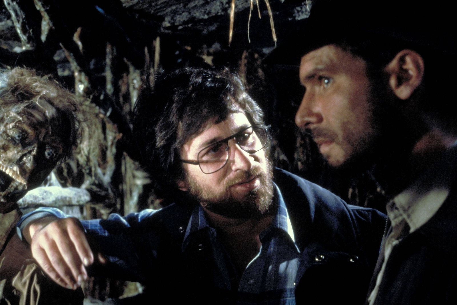 Steven Spielberg & Harrison Ford Characters: Director, Indiana Jones Film: Raiders Of The Lost Ark; Indiana Jones 1 (USA