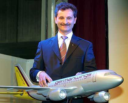 Weitere Expansion: Germanwings-Geschäftsführer Joachim Klein will ab Herbst einen zweiten Abflughafen anbieten