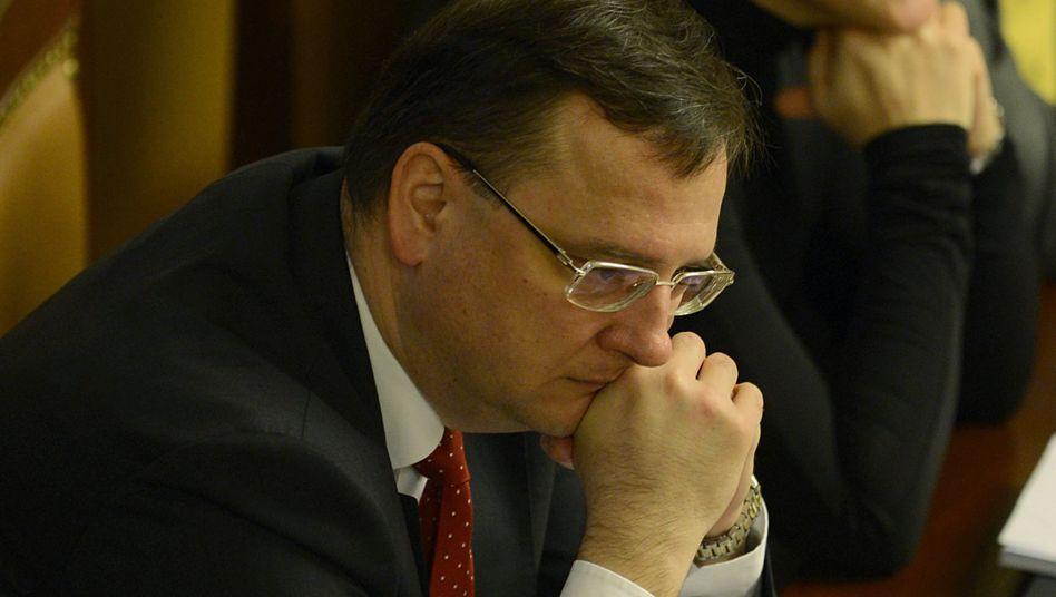 Premier Petr Necas vor der Vertrauensabstimmung: Umstritten wegen seines Sparkurses
