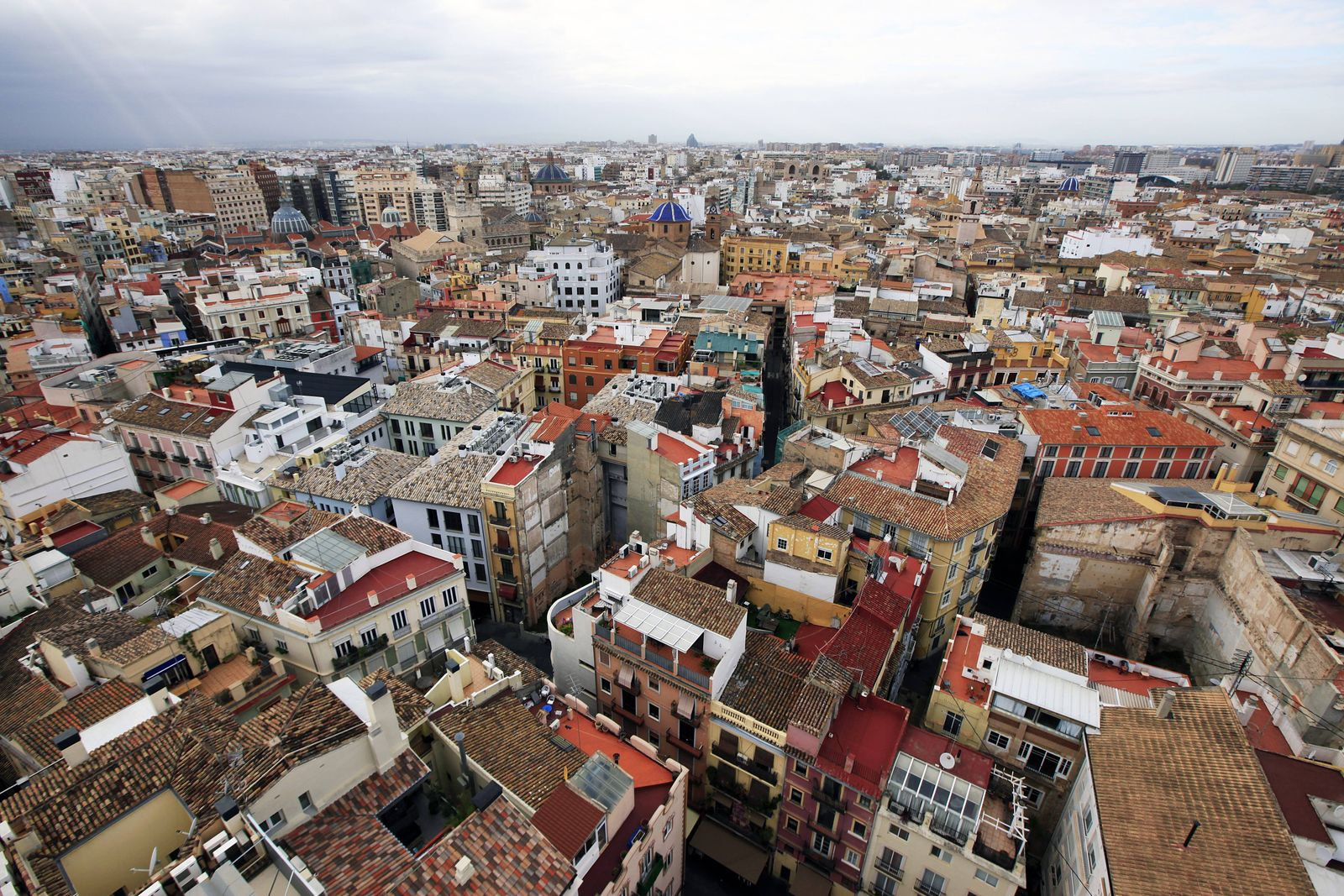 Central Valencia from the tower of the Metropolitan Cathedral Basilica of the Assumption of Our Lady